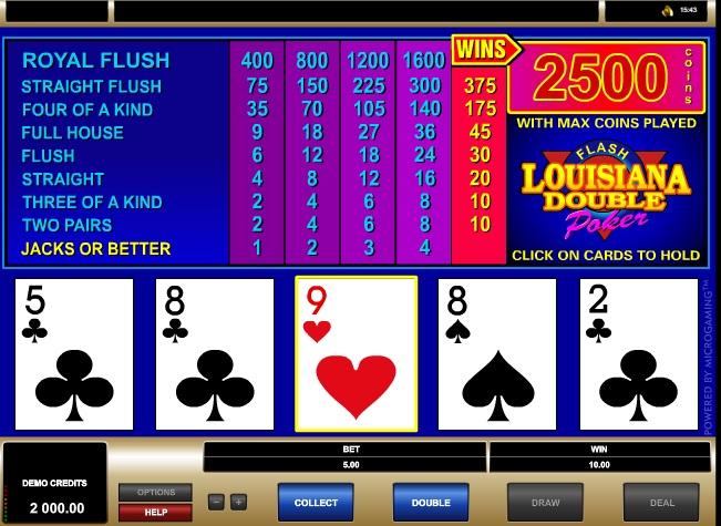Louisiana Double Flash Poker