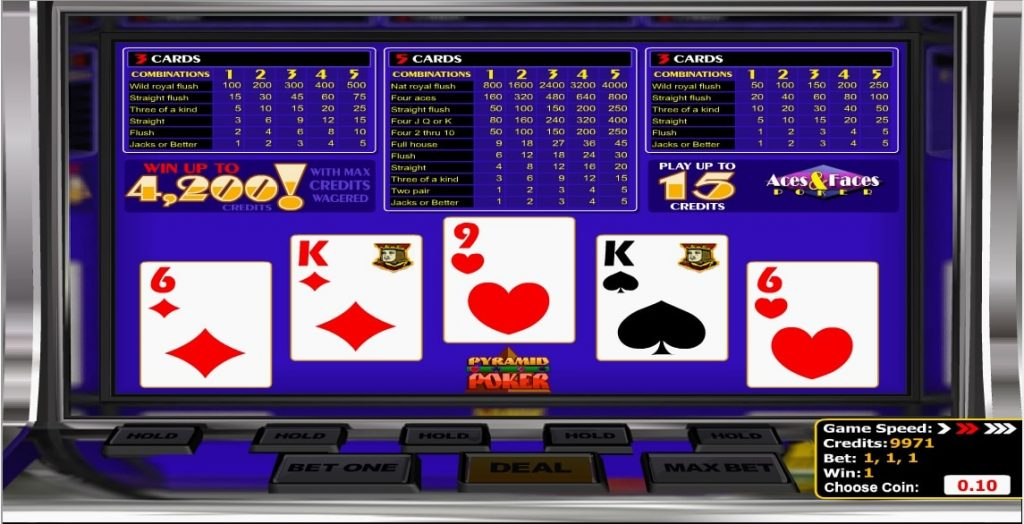 Pyramid Poker Aces And Faces Poker
